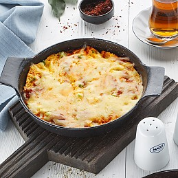 Menemen with Kashar Cheese
