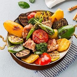 Tərəvəzli İzqara Toyuq Kabab