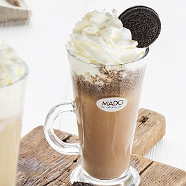 Iced coffee with Oreo