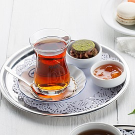 Azerbaijan Turkish Tea in Armudu Glass